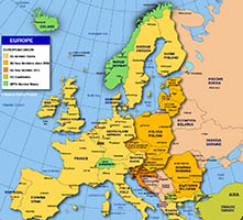 Available European countries to study